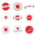 Made in Japan labels badges and stickers vector image vector image