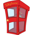 Payphone cartoon vector image vector image