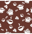 seamless pattern with cups of coffee vector image