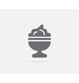 Ice Cream Dessert Dish or Cup Element or Icon vector image