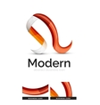 Ribbon swirl business logo vector image