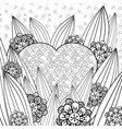 Whimsical garden adult coloring page vector image
