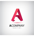 a red letter origami logo 3d icon for vector image