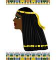 Ancient Egypt portrait of woman vector image