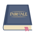 Book with fairytales icon in cartoon style vector image