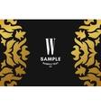 Golden Luxurious Logo Frame and Monogram Golden vector image