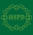 Happy St Patricks Day - elegance card in monogram vector image