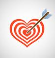 Logo heart as a target and arrow vector image