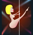 pole girl dancer strip vector image