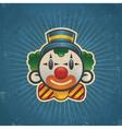 Retro Birthday Clown vector image