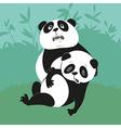 two giant pandas vector image