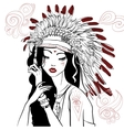 young beautiful native american woman vector image