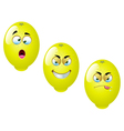 Cartoon Lemon Fruit Set 2 vector image