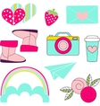 icons of glamor stickers and labeles vector image