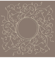 pattern with swirls and leaves with a round frame vector image vector image