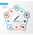 job icons set collection of chatting increasing vector image