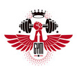 bodybuilding weightlifting gym logotype sport vector image