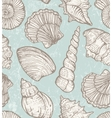 pattern with sea shells vector image vector image