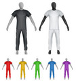 plain shirt and sweatpants on mannequin template vector image vector image