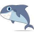 Funny shark standing vector image