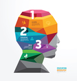 geometric head design infographic Template vector image vector image