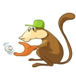 cartoon character monkey vector image vector image