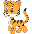 Cute baby tiger posing isolated vector image