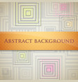 abstract background with squares and orange label vector image