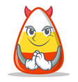 devil candy corn character cartoon vector image