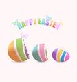 Easter egg inside eggs vector image