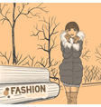 fashion style02 vector image