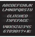 Glitch font vector image
