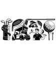 golf clipart vector image