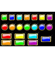 rainbow glossy buttons set eps 8 vector image
