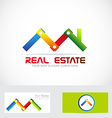 Real estate construction business logo vector image