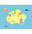 Retro Style Island Map vector image
