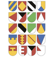Set of colorful templates for coats of arms vector image