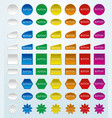 web elements button set in different color vector image