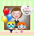 world teachers day vector image