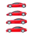 sport muscle car red flat Icon vector image
