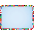 world flags frame vector image vector image