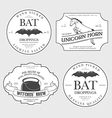 Funny vintage Halloween potion labels vector image