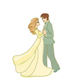 wedding dancing couple vector image vector image