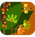 bees in garden vector image