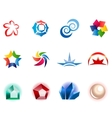 12 colorful symbols set 1 vector image