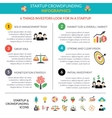 Business startup crowdfunding infographic layout vector image