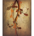 autumn grunge background vector image vector image