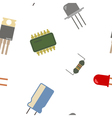 Seamless background with electronic components vector image
