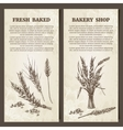 Bakery banner Set of cards template Hand drawn vector image