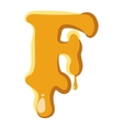 Letter F from honey icon vector image